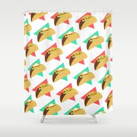 taco Shower Curtains featuring TACO TIME!  by Kaitlin Smith
