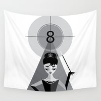 audrey Wall Tapestries featuring Audrey by Love Ashley Designs