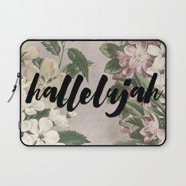 hallelujah vintage floral Laptop Sleeve