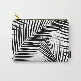 Palm Leaves - Black & White Cali Vibes #1 #tropical #decor #art #society6 Carry-All Pouch
