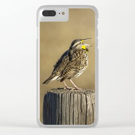 Song of a Meadowlark Clear iPhone Case
