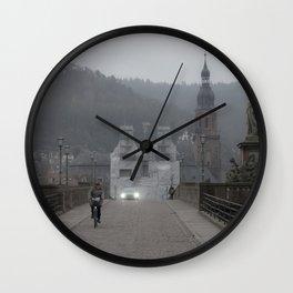 Heidelberg Cyclist Wall Clock