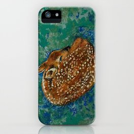 Sleeping Fawn iPhone Case