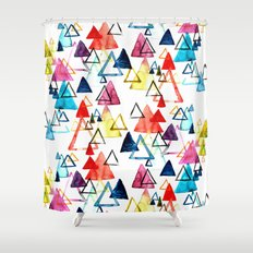 Triangle Party Shower Curtain