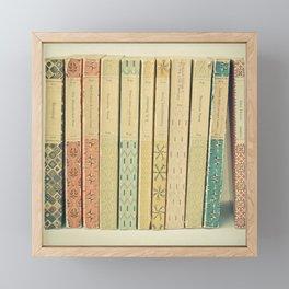 Old Books Framed Mini Art Print