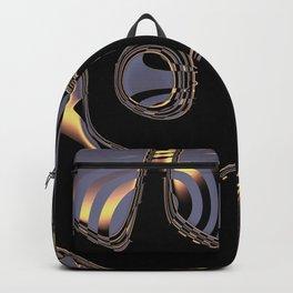 Elegant Black Fractal 3 Backpack