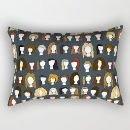 80's Hair Rectangular Pillow