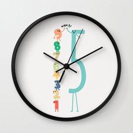 High 5! Wall Clock