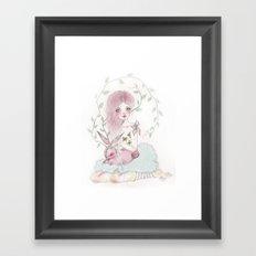 Dreamy Jackalope  Framed Art Print