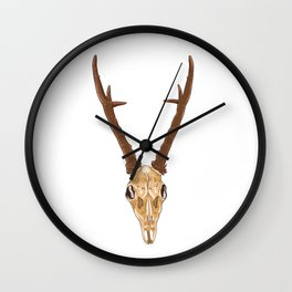 Skull of roe deer Wall Clock