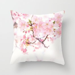 Blush Pink Flowers Throw Pillow