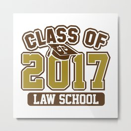 Class Of 2017 Law Metal Print