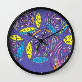 Stylish Mauve Floral Wall Clock