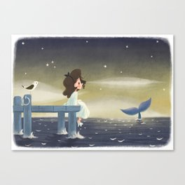 Le chant des baleines Canvas Print