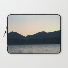 Sunset and Crescent Moon over the Water Laptop Sleeve