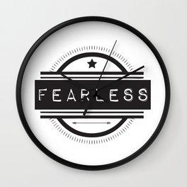 #Fearless Wall Clock