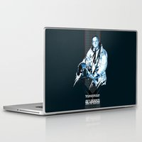 neil gaiman Laptop & iPad Skins featuring Neil Armstrong Tribute by Largetosti