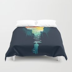 I Want My Blue Sky Duvet Cover