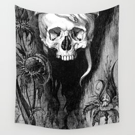 Skull Crowned Wall Tapestry