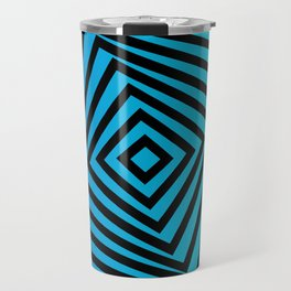 Squares twirling from the Center. Optical Illusion of Perspective bu Squares twirling Travel Mug
