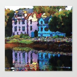 Embossed Countryside Canvas Print