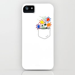 Pablo Picasso Bouquet Of Peace 1958 in a Pocket (Flowers Bouquet With Hands), T Shirt, Artwork iPhone Case