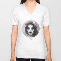 day of the dead V-neck T-shirts featuring Day of the Dead by Nicolas Jamonneau