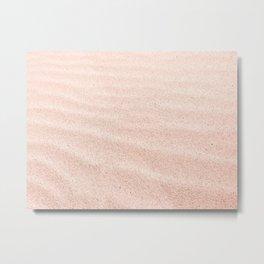 Sand waves - rose quartz Metal Print