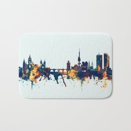 Prague (Praha) Czech Republic Skyline Bath Mat