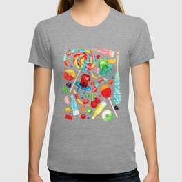 Candy Pattern - Teal T-shirt