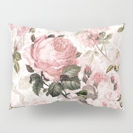 Vintage & Shabby Chic - Sepia Pink Roses Pillow Sham