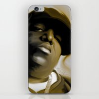 biggie smalls iPhone & iPod Skins featuring The Notorious B.I.G (Biggie Smalls) by darylrbailey
