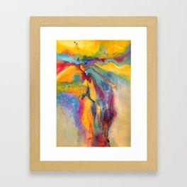 Sunrise on the Falls Framed Art Print