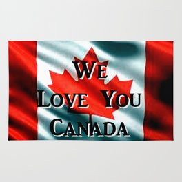 We Love You Canada Rug