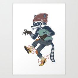Raccoon Thief Art Print