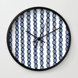Blue Strings Wall Clock