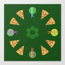 TMNT Pizza Time Canvas Print