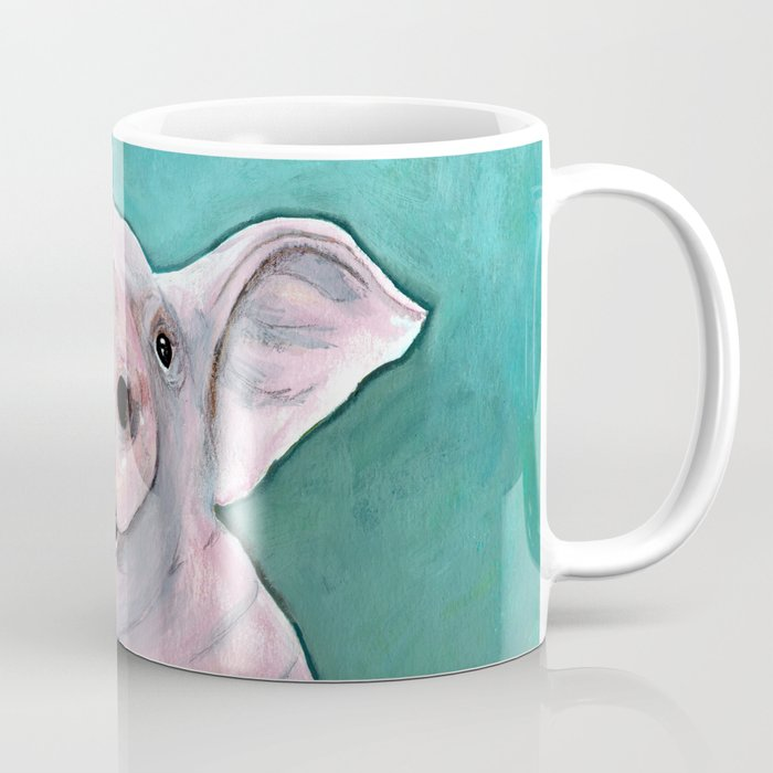 Happy Pig Painting Smiling Pig Watercolor Colorful Piglet Art Laughing Piggy Kid S Wall Art Kit Coffee Mug By Yankeedime