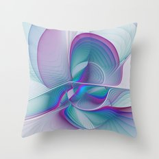 Colorful Beauty, Abstract Fractal Art Throw Pillow