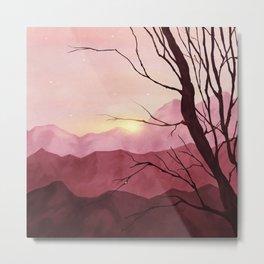 Sunset & landscape Metal Print