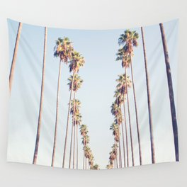 Palm tree stripes Wall Tapestry
