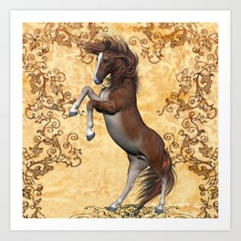 Awesome brown horse  Art Print