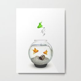 Gold Fish Outsider Metal Print