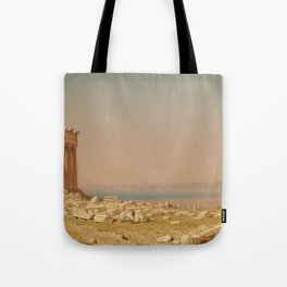 Sanford Robinson Gifford Ruins of the Parthenon 1880 Painting Tote Bag