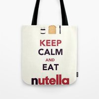 nutella Tote Bags featuring Nutella by Iotara