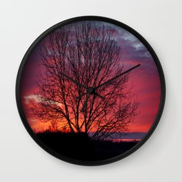 Autumn Sunrise At Chasewater Wall Clock