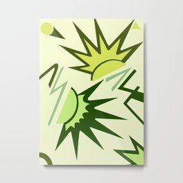 CELEBRITY, ART DECO MODERN: GREEN SCENE Metal Print
