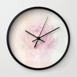SWEET ROSE Wall Clock
