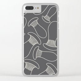 king oyster mushrooms Clear iPhone Case