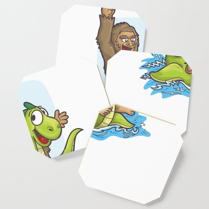 Bigfoot Riding Nessie Big Foot and Loch Ness Monster Coaster